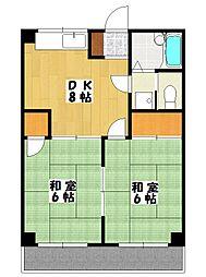 タケミハイツ[305号室]の間取り