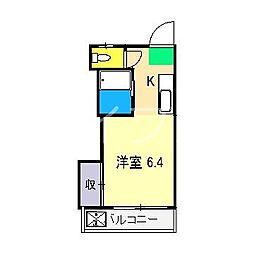 春野ハイツ[2階]の間取り