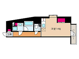 JR東海道・山陽本線 摩耶駅 徒歩9分の賃貸マンション 3階ワンルームの間取り