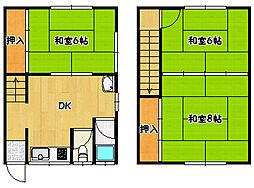 [テラスハウス] 兵庫県神戸市長田区六番町3丁目 の賃貸【/】の間取り