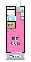 パラシオン富士見[2階]の間取り