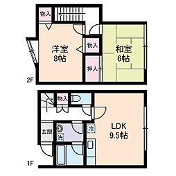 [テラスハウス] 東京都品川区荏原6丁目 の賃貸【/】の間取り