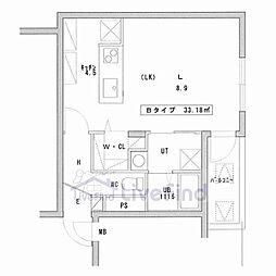 札幌市営東豊線 美園駅 徒歩3分の賃貸マンション 2階1LDKの間取り