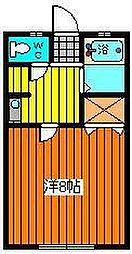 コーポまきIII[201号室]の間取り