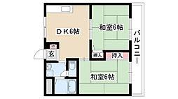 愛知県日進市南ヶ丘3丁目の賃貸アパートの間取り