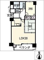 プラザ鈴鹿 503号室[5階]の間取り