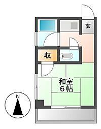ステージ清水[4階]の間取り