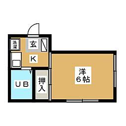 ピュアスト草薙[2階]の間取り