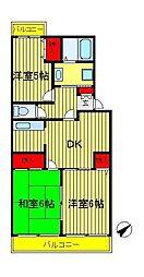 第15パールメゾン鏑木[305号室]の間取り