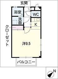 フォルテ西口[1階]の間取り