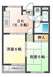 桜マンション[2階]の間取り