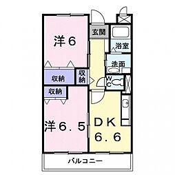 埼玉県熊谷市肥塚3丁目の賃貸マンションの間取り