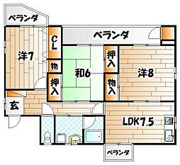 サンテラス 1号棟[3階]の間取り