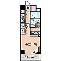 神奈川県横浜市港北区新横浜2丁目の賃貸マンションの間取り