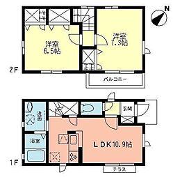 [一戸建] 神奈川県藤沢市大鋸3丁目 の賃貸【/】の間取り