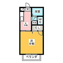 サウスコート佐鳴台[2階]の間取り
