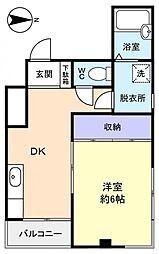 ケイズ八千代台[4階]の間取り