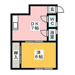 セントラルマンション[1階]の間取り