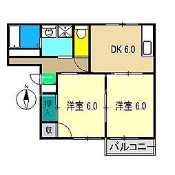 ラフォーレアパート E棟[1階]の間取り