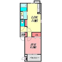 Osaka Metro谷町線 大日駅 徒歩13分の賃貸アパート 3階1LDKの間取り
