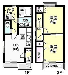 [テラスハウス] 神奈川県愛甲郡愛川町角田 の賃貸【/】の間取り