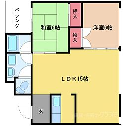 メゾンサクラ11南棟[4階]の間取り
