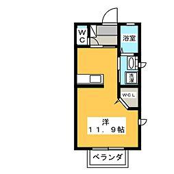 サンカルチェ参番館[1階]の間取り