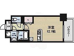 グランメゾン黒川 7階1Kの間取り