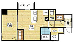 YOU´SVII番館 3階1DKの間取り