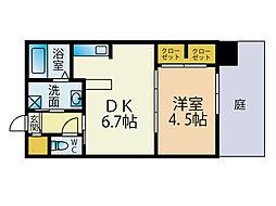 ウィステリア桜坂ヒルズ[1階]の間取り