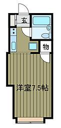 サンホワイト三番館[1階]の間取り