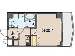 阪急神戸本線 王子公園駅 徒歩5分の賃貸マンション 6階1Kの間取り