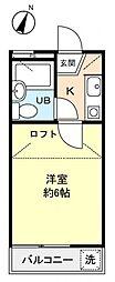 ジュネパレス村竹[2階]の間取り