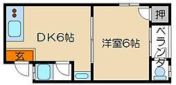 東丸太町マンション[304号室]の間取り