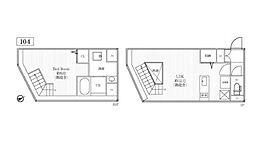 東急東横線 中目黒駅 徒歩7分の賃貸マンション 1階1LDKの間取り
