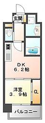 ライブガーデン江坂IV[2階]の間取り