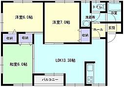 イーストコートYAMADA A棟[A-2-1号室]の間取り