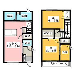 [テラスハウス] 静岡県浜松市南区飯田町 の賃貸【/】の間取り