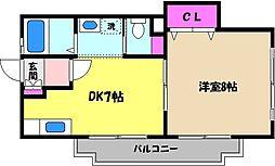兵庫県芦屋市松浜町の賃貸マンションの間取り