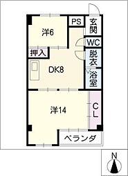 沢田レジデンス[2階]の間取り