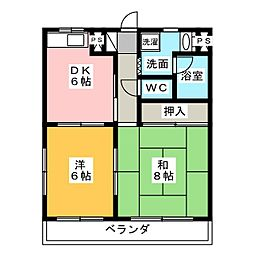 オズハウス2[2階]の間取り