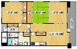 KOKOレジデンス B棟[3階]の間取り