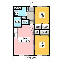 オリンピア E[2階]の間取り