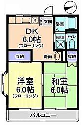 西総ビル[2階]の間取り