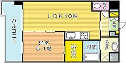 フェリシエ三萩野[6階]の間取り
