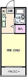 フローラ内田[3階]の間取り