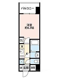 アドバンス大阪ドーム前アヴェニール[404号室]の間取り