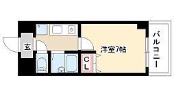 愛知県名古屋市熱田区一番2丁目の賃貸マンションの間取り