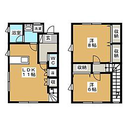 タウンコート・K[2階]の間取り