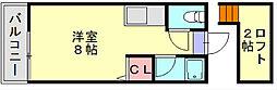 サンフィールド小倉[2階]の間取り